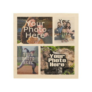 Photo Collage Custom Digital Picture Wood Print