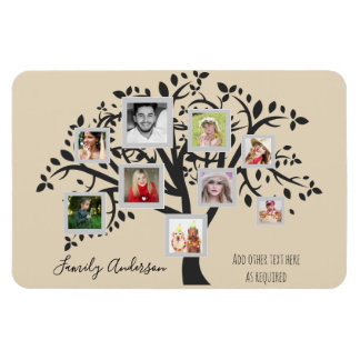 Photo Collage Family Tree Template Personalized Magnet