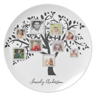 Photo Collage Family Tree Template Personalized Plate