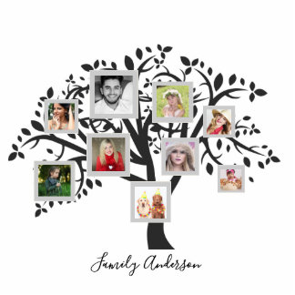 Photo Collage Family Tree Template Personalized Standing Photo Sculpture
