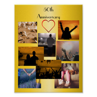 Photo Collage For 50th Anniversary Poster