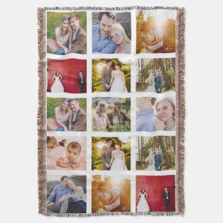 Photo Collage Gift 15 photo blanket Throw Blanket
