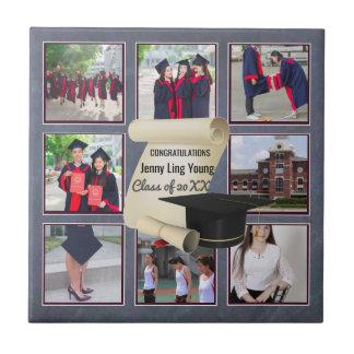 Photo Collage Graduation Keepsake Instagram Named Tile