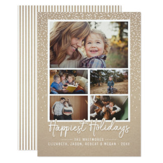 Photo Collage - Happiest Holidays Card