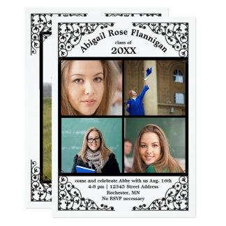 Photo Collage Lace - Graduation Announcement
