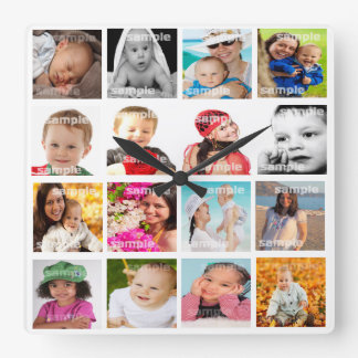 Photo Collage Make Your Own DIY Wall Clock