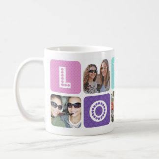 Photo Collage Multicolor Coffee Mug