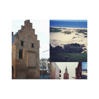 Photo collage of The Hague 2 Canvas Print
