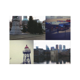 Photo collage of The Hague 3 Canvas Print
