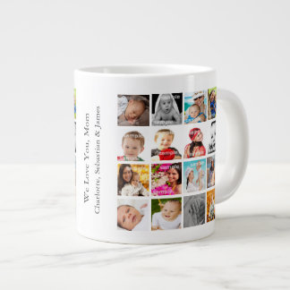 Photo Collage Personalized Custom Make Your Own Jumbo Mug