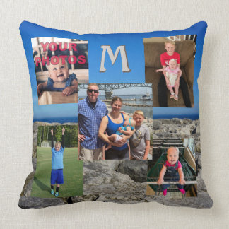 Photo Collage Pillow with up to 5 Your Pictures