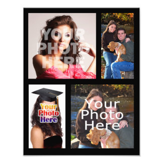 Photo Collage Print, Four Pictures