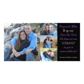 Photo Collage Save the Date Personalised Photo Card