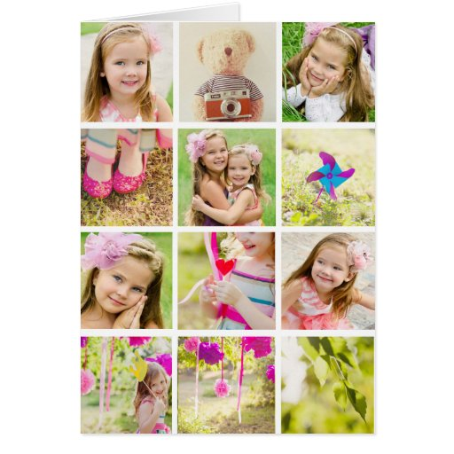 photo collage template personalised greeting card zazzle. Black Bedroom Furniture Sets. Home Design Ideas