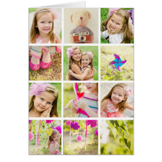 Photo Collage Template Personalized Greeting Card