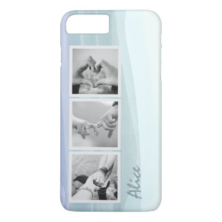 Photo Collage Watercolor Blue iPhone 7 Plus Case