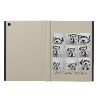 Photo Collage with 9 square photos - Taupe iPad Air Covers