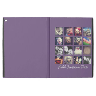 "Photo Collage with Aubergine Background - 16 pics iPad Pro 12.9"" Case"