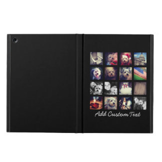 Photo Collage with Black Background iPad Air Covers