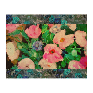 Photo Cork Paper with Vintage Flowers
