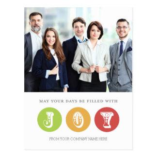 Photo Corporate Christmas Joy Postcards
