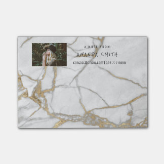 Photo Corporate Customer Service Marble Gold Vip Post-it Notes