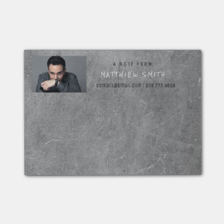 Photo Corporate Grungy Cement Gray Post-it® Notes