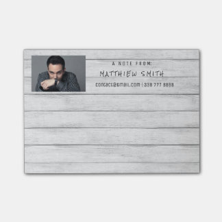 Photo Corporate Grungy White Wood Gray Post-it® Notes