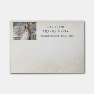 Photo Corporate Ivory Delicate Ecru Lace Post-it® Notes