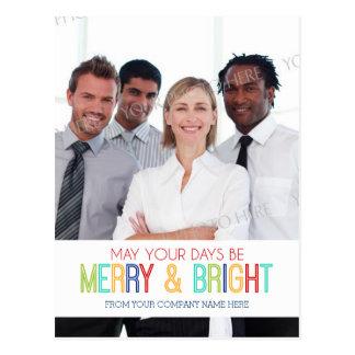 Photo Corporate Merry Bright Postcards