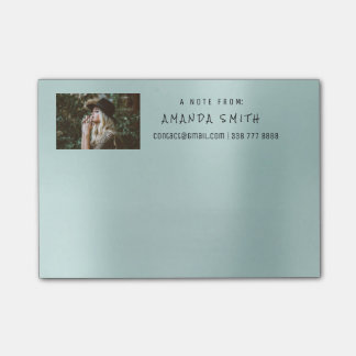 Photo Corporate Name Message Tiffany Aqua Blue Post-it Notes