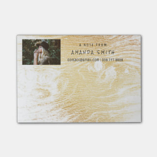 Photo Corporate White Gold Wood Post-it® Notes
