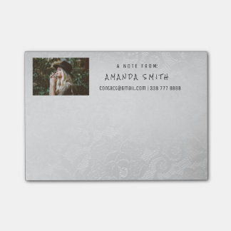 Photo Corporate White Silver Lace Post-it® Notes