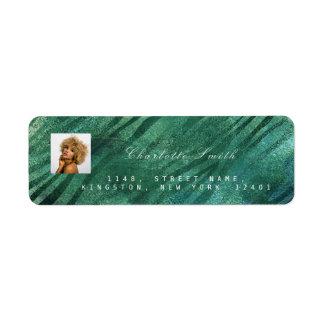 Photo Custom Cali Tropical Green RSVP Return Address Label