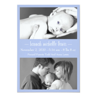 Photo Duo New Baby Announcement (Violet Purple)