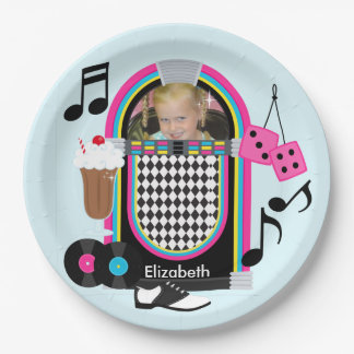 Photo Fabulous 50s Happy Birthday Paper Plates 9 Inch Paper Plate
