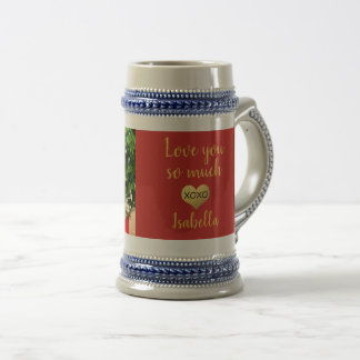 Photo | Faux gold foil heart xoxo Beer Stein