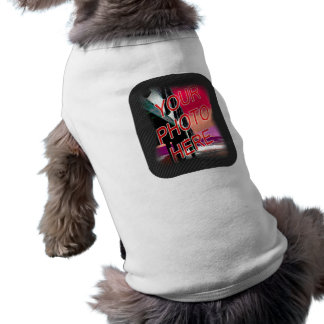 Photo frame dark dotted template sleeveless dog shirt