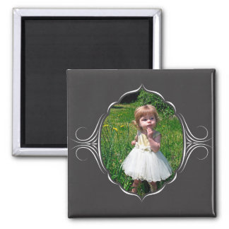 Photo frame with tribal look. magnet