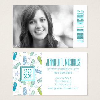 Photo Graduation | Flip Flop Pattern Business Card