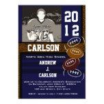 Photo Graduation/ Football 13 Cm X 18 Cm Invitation Card
