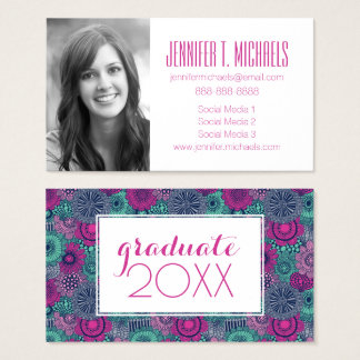 Photo Graduation | Gorgeous Flowers Business Card