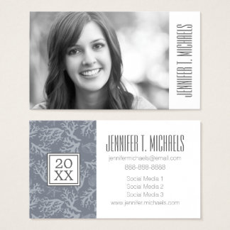 Photo Graduation | Hipster Style Coral Reef Business Card