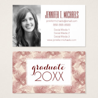 Photo Graduation | Orchid Engraving Business Card