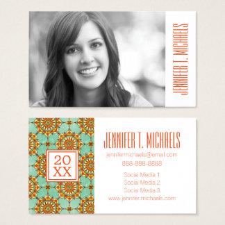 Photo Graduation | Ornamental Pattern Business Card