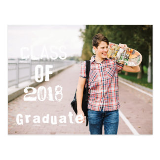 Photo Graduation Party Invitation. Postcard