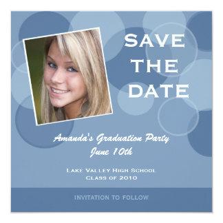 Photo Graduation Party Save the Date 13 Cm X 13 Cm Square Invitation Card