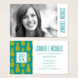 Photo Graduation | Pineapple Tropical Fruit Business Card