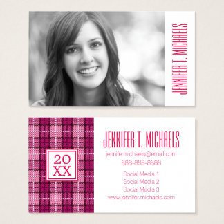 Photo Graduation | Pixel Plaid Business Card