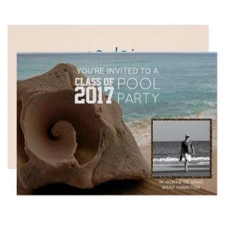 Photo Graduation Pool Party Beach | Class of 2017 Card